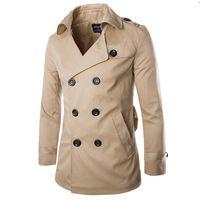 2015 New Trench coat men windbreaker sobretudo masculino casacos mens long trench overcoat 62360
