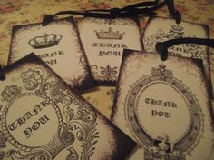 Vintage  Gift  Tags  Distress  Thank You  Tgas  Black  by mslizz, $5.00