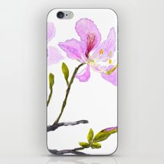pink+bauhinia+iPhone+&+iPod+Skin+by+Color+And+Color+-+$15.00