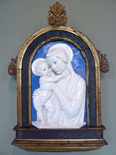 Andrea della Robbia - Virgin with child (1475)