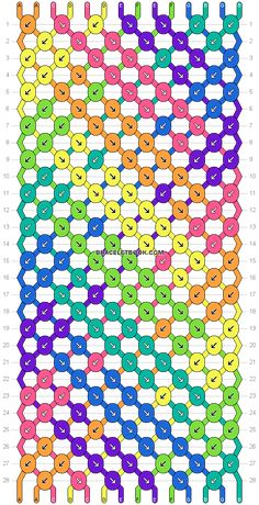 Normal friendship bracelet pattern variation added by mikkomix. rainbow chevron stripes braid thick double v. Yarn Bracelets, Bracelet Crafts, Handmade Bracelets, Jewelry Crafts, Macrame Bracelet Patterns, Bracelet Designs, Bracelet Fil, Diy Friendship Bracelets Patterns, Rainbow Loom