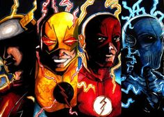 The Speedsters of The Flash by samrogers
