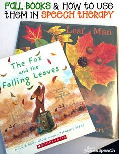 Fall Book ideas for Speech Therapy