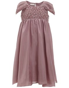 Elizabeth Silk Embellished Dress in Lilac from Monsoon