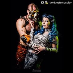 #Repost @goldvestercosplay  Recreating the Bride of the Psycho fanart by ViceDriven with Ethan of @thousand_faces_cosplay and Wes @theportraitdude was super awesome  this pose was surprisingly hard to get right but WE DID IT!!!! Lol definitely check out the original fanart on deviantart because it's gorgeous <3  Krieg: @thousand_faces_cosplay  Maya: (me)  Photo: @theportraitdude