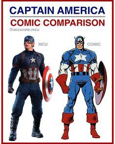 • CAPTAIN AMERICA - COMIC COMPARISON•  I love how comic accurate practical and realistic caps mcu su - accurate.mcu