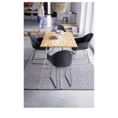 Teppich BRAID schwarz/weiß von liv interior