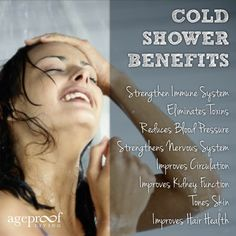 The Benefits of Taking Cold Showers... I do this every morning!