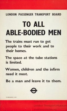 To all able-bodied men, by unknown artist, 1940
