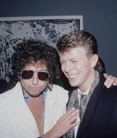 Bob Dylan and David Bowie. This picture is perfect.