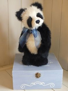 Charlie Bears Trixie Standing Plush Panda Designed by Isabelle Lee Retired HTF
