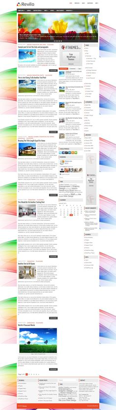 Revilo - Download Free WordPress Theme by FThemes