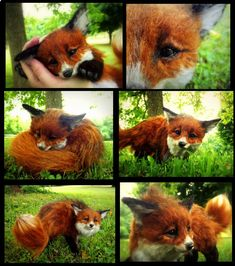 SOLD HAND MADE Poseable Baby Fox! by Wood-Splitter-Lee on deviantART