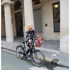 Aggripine Bride Antivol pour sac à main avec un vélo doré