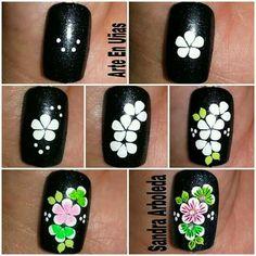 Manicure, Diy Nails, Diy Nail Designs, Nail Art Videos, Flower Nails, Nail Colors, Make Up, Floral, Margarita