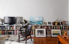 Great ideas on what to do when you can't hang artwork on your walls.