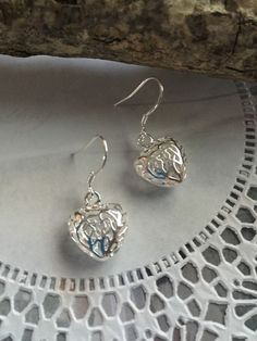Valentine's day heart earring 925 Sterling silver by NARELO