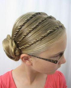 25 Cute Hairstyles with Tutorials for Your Daughter 25 Cute Hairstyle Ideas for Little Girls. Maybe I could do my hair like this even though it says little girls. Easy HairstylesCute Kids Hairstyles for Creative Hairstyles, Pretty Hairstyles, Cute Hairstyles, Hairstyle Ideas, Bun Hairstyle, Hairdos, Hairstyle Wedding, Back To School Hairstyles, Little Girl Hairstyles