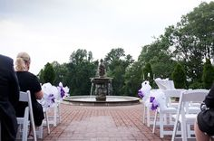 Oxon hill. The front of the house brick area with the fountain can be tented with the sperry tent and the ceremony in back by the reflecting pool