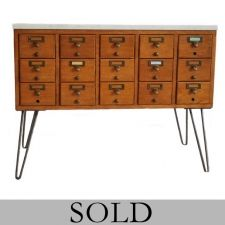 Library Card Catalog Table - SOLD