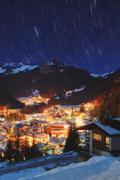 "Mikhail Semaev on Twitter: ""Night in Alps (by Lena Serditova) #travel #landscape #nature #sky #night #alps #stars #winter #snow #light #austria http://t.co/eqkc6gcV2o"""