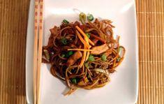 Wok, Japchae, Spaghetti, Pasta, Ethnic Recipes, Noodle, Pasta Recipes, Pasta Dishes