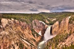 Lower Falls Waterfall in Yellowstone National Park - AKA: The Grand Canyon of Yellowstone