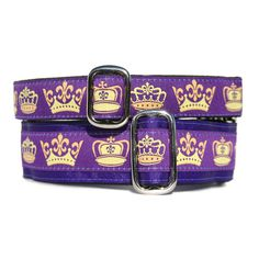 Royalty Dog Collar - Exclusive Design! | Classic Hound Collar Co. #dogcollar #handmade #handcrafted #madeinUSA #madeinamerica #crown #king #queen #princess #prince #dog #royal