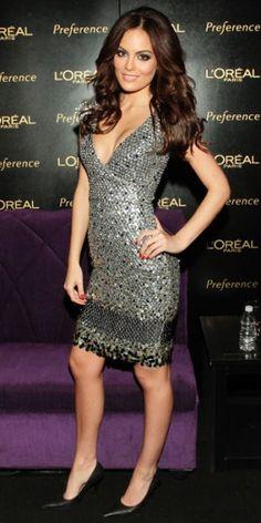 XIMENA NAVARRETE    Tan divina como de costumbre lució la exMiss Universo en una conferencia de prensa en la Ciudad de México, durante la cual fue presentada como la nueva imagen de L'Oréal.