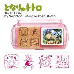 Studio Ghibli My Neighbor Totoro Mini Rubber Stamp Set (Type 5)【Stationery】