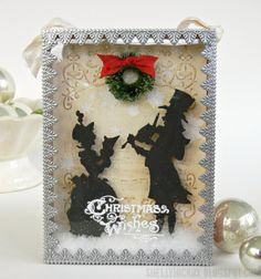 Stamptramp: Sizzix Victorian Carolers Shadow Box http://shellyhickox.blogspot.com/2013/11/sizzix-victorian-carolers-shadow-box.html