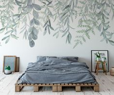 Adorable Vintage Bedroom Wall Decals Design Ideas To Try. Colorful Flower wall decals make a room appear instantly bright and cheery. Large Wall Murals, Wall Decals For Bedroom, Bedroom Murals, Bedroom Decor, Mural Wall, Painted Wall Murals, Kids Wall Murals, Wall Murials, Nursery Murals