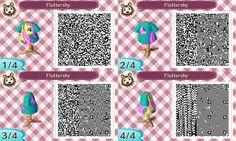 Animal Crossing New Leaf Fluttershy shirt qr code