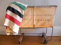 Vintage Hudson Bay Style Wool Blanket by HejaHome on Etsy, $85.00