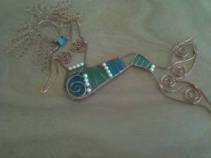 Wire Wrapped Mermaid with Sea Glass and Pearls! BY Mermaids Design Studio