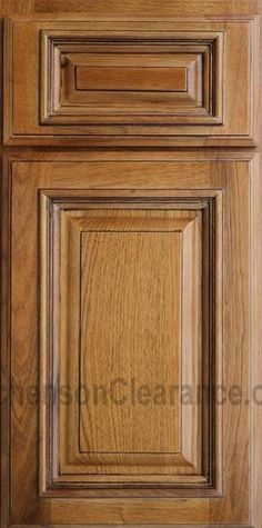 Light Yellow Kitcheb Cabinets With Chocolate Glaze | Kitchens On Clearance
