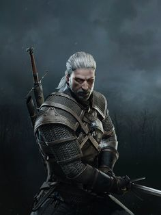 The Witcher 3 Wild Hunt Geralt iPad by Scratcherpen on deviantART