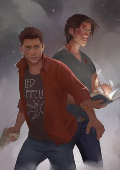 Sam and Dean Winchester |||| Credit to the amazing artist - If you know who the Artist is let me know so I can give them credit