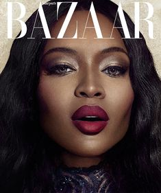 Naomi Campbell stuns in this beauty shot and alternate cover of her June 2014 Harper's BAZAAR Vietnam shoot.