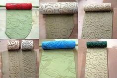 Roller Stamp selber machen - DIY Projekte mit Heißkleber und Nudelholz