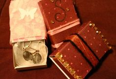 diy christmas gifts, jewellery wrapping