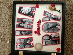 A shadow box for your boyfriend on Valentines Day!