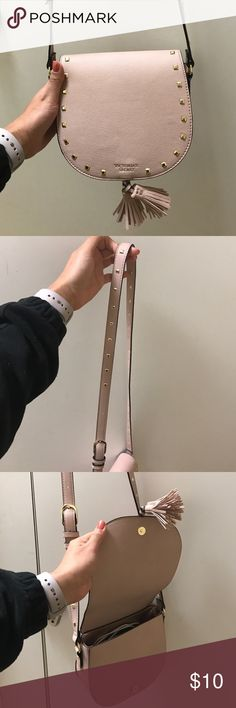 VS crossbody purse Light pink with gold embellishments. Great condition... perfect for spring & summer 🌻 Victoria's Secret Bags Crossbody Bags