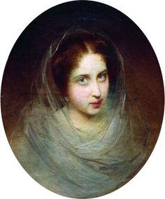 "Маковский Константин ""Женский портрет"" 1860-е"