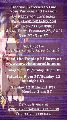 Love Radio, Ready For Love, Creativity Exercises, Head And Heart, Bedtime, Coaching, Purpose, Relationships, Finding Yourself