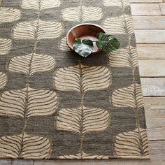 on sale big in runner, 5x8, 3x5, 2x3 WHERE? Bemba Printed Jute Rug - Steel | west elm