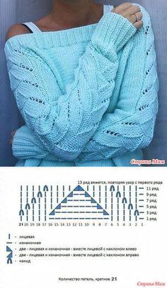 Татьяна's media content and analytics - Knit & Share Knitting Paterns, Baby Hats Knitting, Lace Knitting, Knitting Stitches, Crochet Yarn, Knit Patterns, Crochet Clothes, Ideias Fashion, Lana