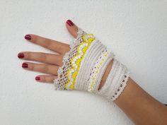 Cotton Yarn Bracelet -Turkish Lace-white bracelet-Special Handmade-Handflower-Beaded Friendship Bracelets -Flower Patterns