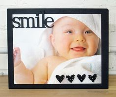 "This will put a smile on mom's face. Easel holds a 5"" x 7"" or 8"" x 10"" photo."