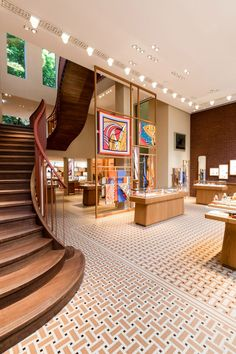 Hermès takes over MVRDV's Crystal Houses in Amsterdam Showroom Design, Interior Design Studio, Hermes Home, Wooden Pavilion, Amsterdam Houses, Recording Studio Home, Townhouse Designs, Store Interiors, Boutique Interior